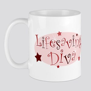"""Lifesaving Diva"" [red] Mug"